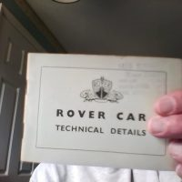 Books:   Rover Car  Technical Details/Specifications.   Rover Refinements.